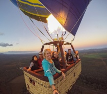 Float in a hot air balloon above the Cairns Atherton Tablelands