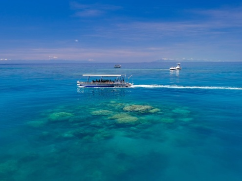 Glass Bottom Boat on the Great Barrier Reef