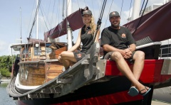 CHINESE JUNK 'SHAOLIN' RETURNS HOME TO PORT DOUGLAS