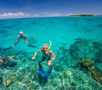 Snorkelling equipment is recommended to fully experience the beauty of the coral reef.