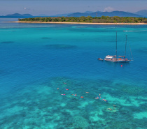 Ocean Free is a beautiful 63ft schooner, which sails daily to tropical Green Island on the Great Barrier Reef